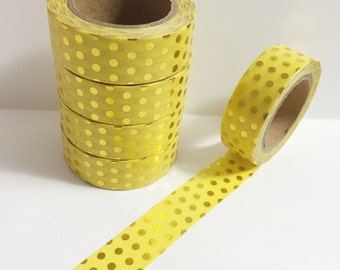 10 Meter Roll Fuchsia Big Dot Washi Tape 15mm Width