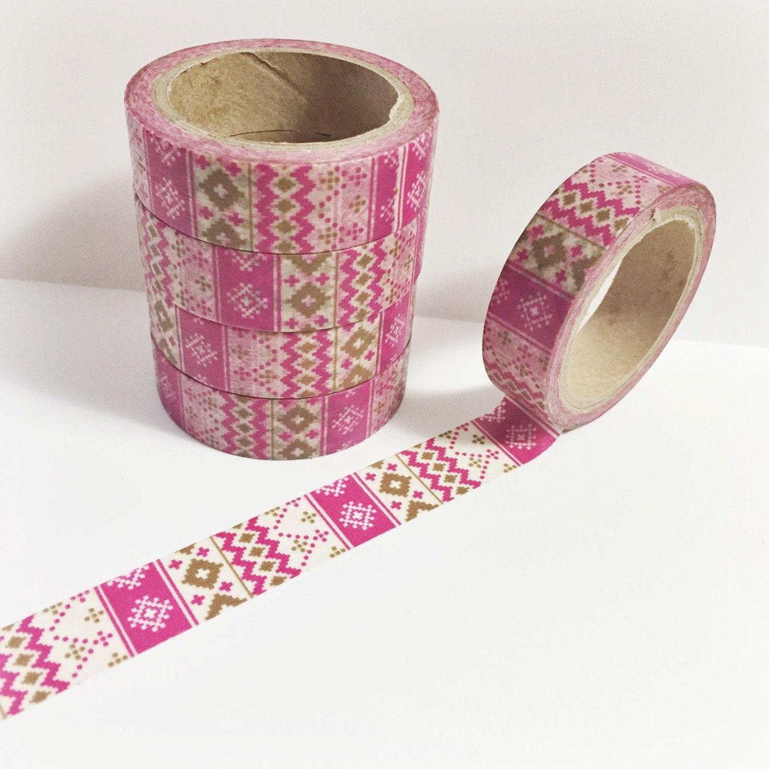 Stitched check pink and fuchsia