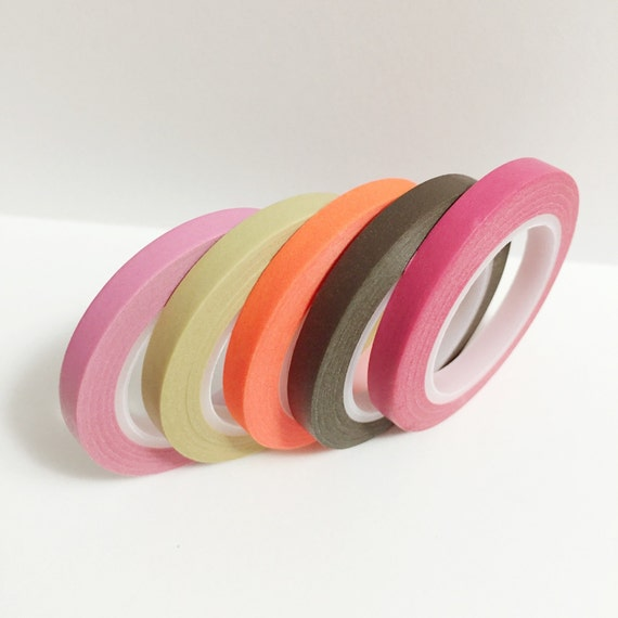Rainbow 5 Roll Washi Tape Set by Just Mustard