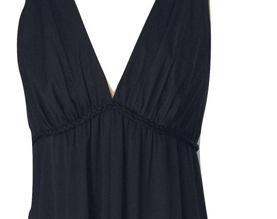 Vintage Vanity Fair black maxi night gown, size XS or S