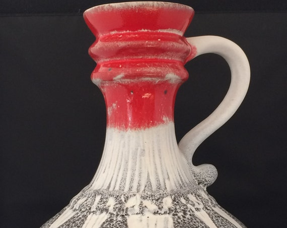 Beautiful vintage ceramic West-Germany seventies large vase.