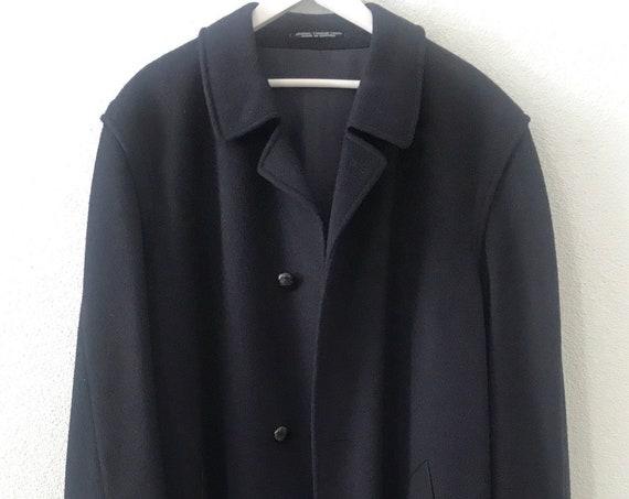 Vintage wool coat | Tyrolean lead | Steinbock | Austria | overcoat | darkblue | men's coat | jacket