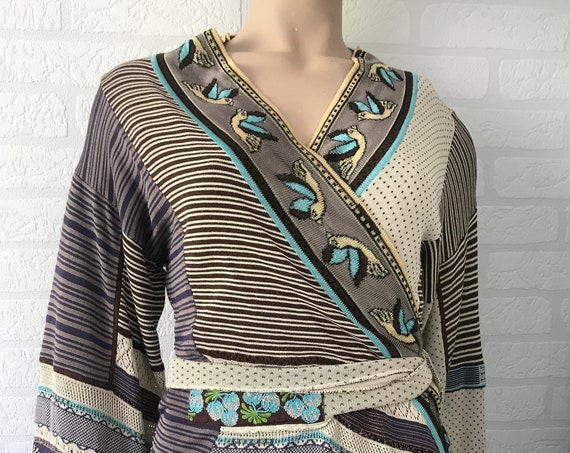 Kenzo cardigan | designer | knitwear | wrap vest | knitted cardigan | Japanese designer | French fashionhouse | nineties | vintage