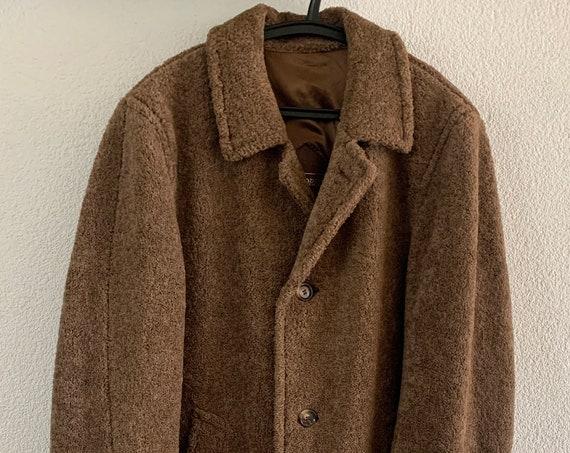 Vintage alpaca coat   Bondress by Odermark   camel   brown   men's coat   jacket   size medium