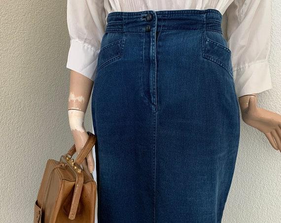 Vintage skirt | jeans skirt | blue denim | Canvas by Joop! | high waisted | eighties | size EUR 38 | M