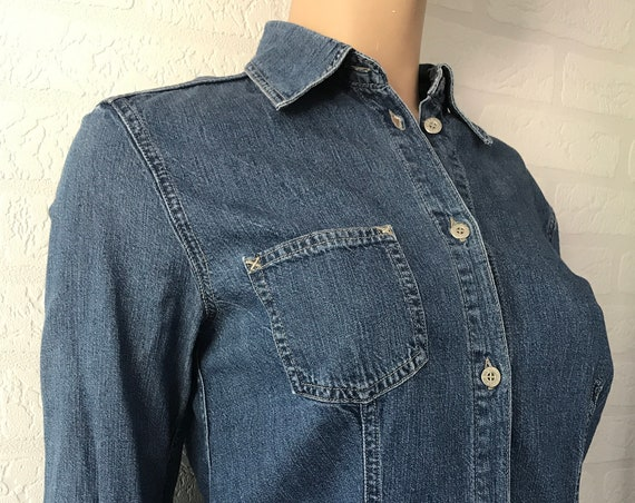 Vintage Oilily | jeans blouse | Oilily jeans | blue | cotton | nineties | womenswear | EUR 36 | top