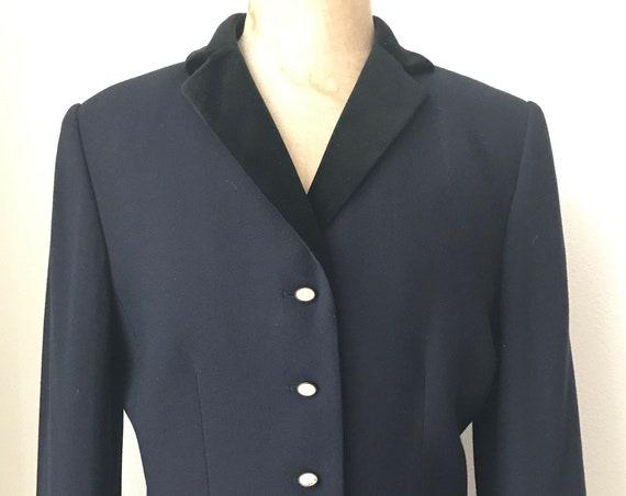 Vintage Kasper A.S.L. jacket | Kasper A.S.L. blazer | dark blue jacket | classic style blazer | size 8 US | 38 EUR | 10 UK