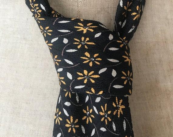 Vintage tie | Cerruti 1881 | silk | flower | designer | France