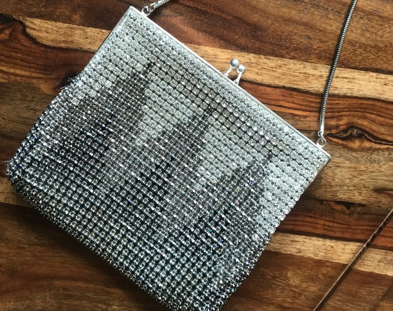 Vintage evening bag | crystal beads | Zumpolle | bridal bag | west germany | eighties bag | party bag | prom purse