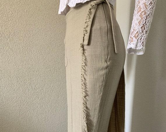 Vintage divided skirt | Marc Cain paints | wool |  | slacks | high waist | small | overlay pants | designer |