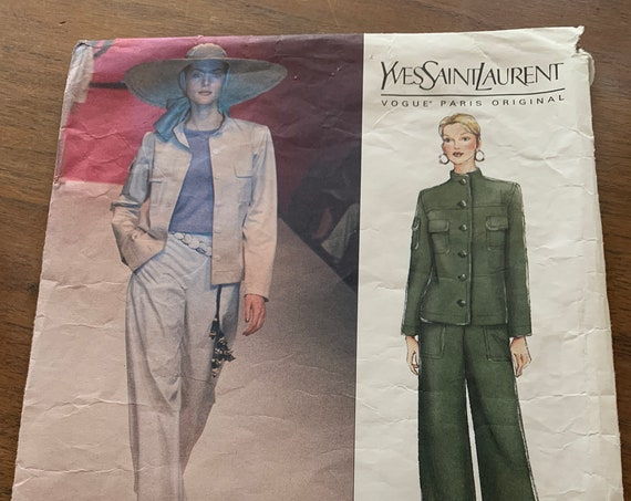 Vintage used Vogue pattern Yves Saint Laurent 2410 size 14 (only pants pattern is available)
