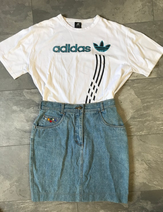 Vintage jeans skirt | High waist skirt | Eighties jeans skirt | Vintage short skirt | Vintage mini skirt | size EUR 40 UK 12 US 10