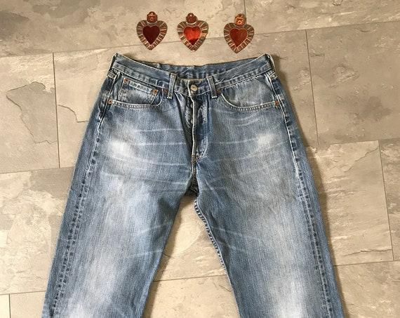Vintage high waist blue denim jeans Levis 501 jeans, size W 31 L 32