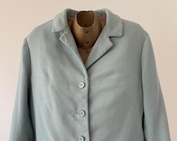 Vintage Rosa Paris   colbert   jacket   blazer   designer   French design   fifties     sea green   size S