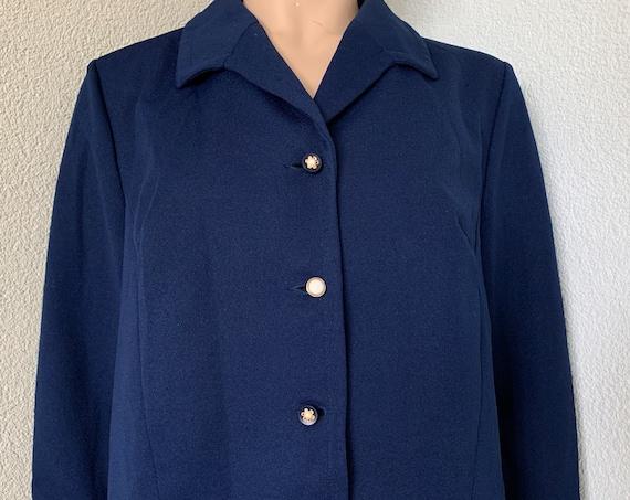 Vintage jacket | Sixties or Seventies blazer | blue jacket | colbert | size L | size EUR 44