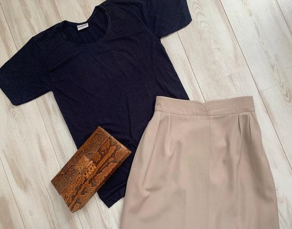 Vintage t-shirt | Jil Sander | cotton | top | designer | Germany | dark blue | short sleeve | size S