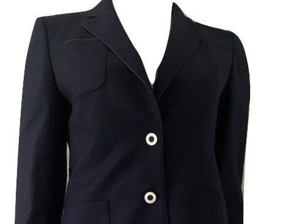 Jobis Sportswear | vintage suit | skirt with jacket | dark blue | size EUR 38 | Made in Germany | Couture