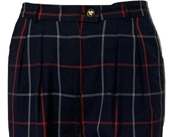 Vintage Burberry's pants   trousers   Designer pants   highwaist   Nova Check   nineties   UK design