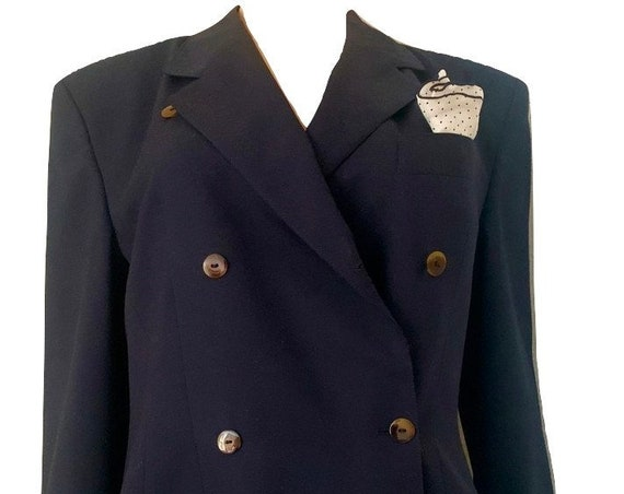Saint Emile | vintage colbert | blazer | jacket | dark blue | size EUR 38 - 40 | Leeser