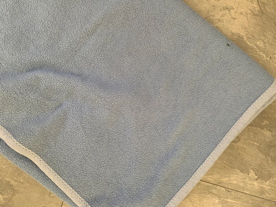 Vintage blanket | Dutch | dralon | synthetic | light blue |