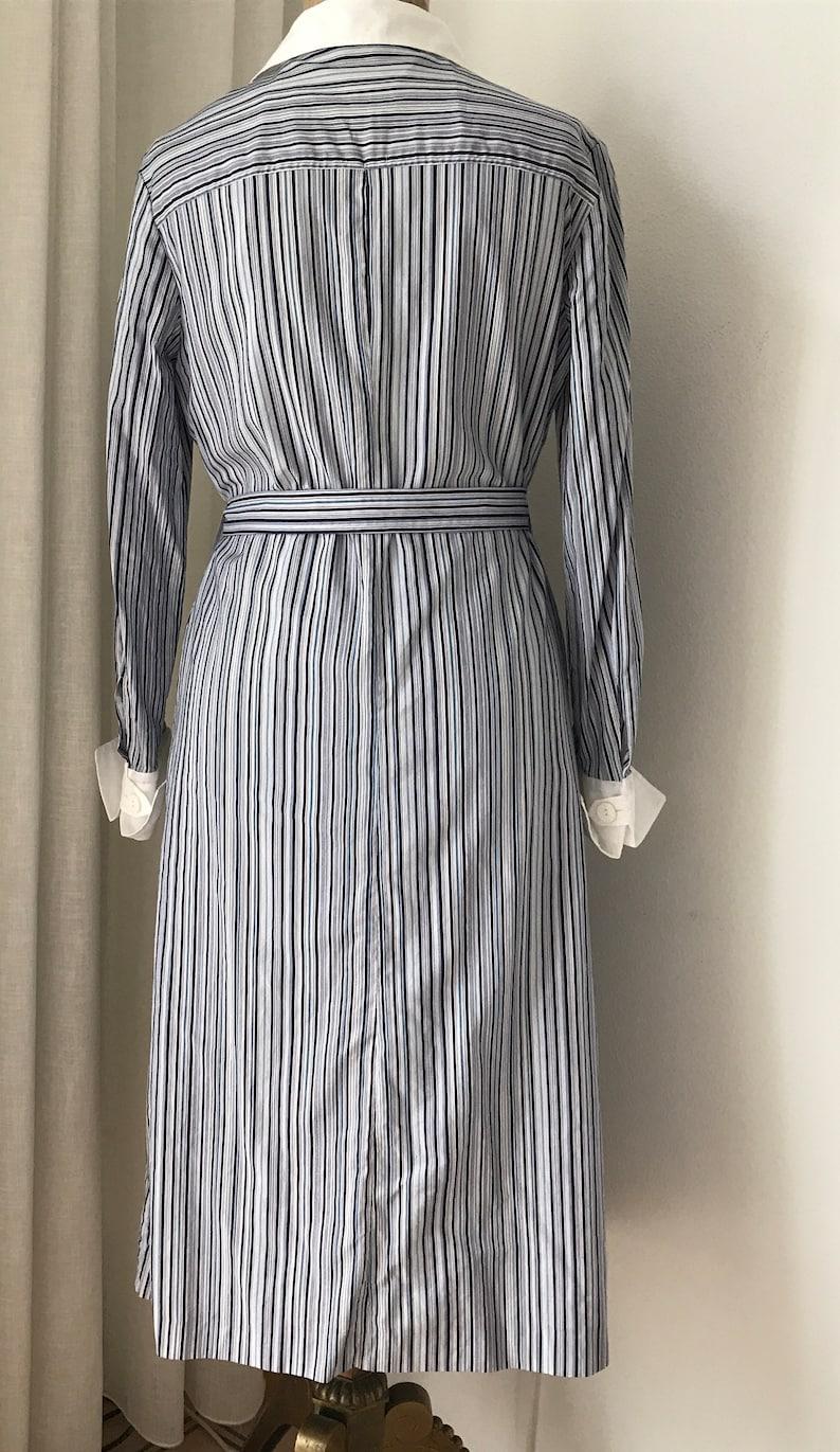 L/'Espoir cotton eighties striped size EUR 38 shirtdress Vintage shirt dress