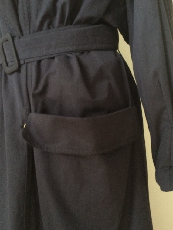 coat designer coat rain Vintage 40 coat darkblue Karl coat Vintage size vintage trench vintage Lagerfeld Hqqpz5PSn