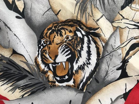 Vintage scarf | Gim Renoir | tiger | leopard | safari | jungle | polyester