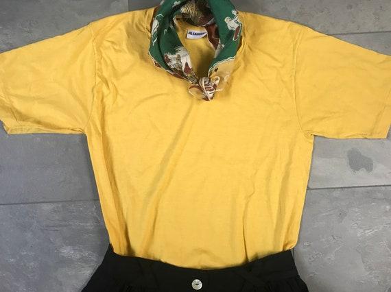 Vintage Jil Sander shirt   cotton shirt   yellow shirt   vintage shirt   vintage t-shirt   designer shirt