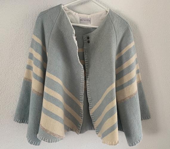 Handmade coat | blanket coat |  jacket | blanketcoat | design | Dutch blanket | short | clocking | hand tailored | wool