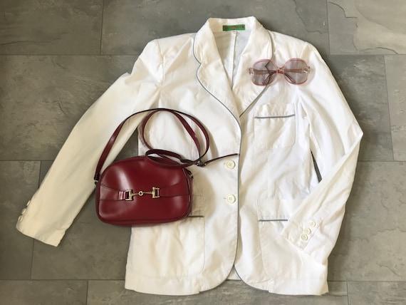 Vintage Daniel Hechter | colbert | white linen jacket | blazer | Designer | French | blazer