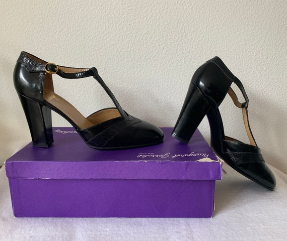 Margaret Jerrold shoes | new old stock | vintage| black leather shoes | size US 6,5  - EUR 36,5 - UK 4