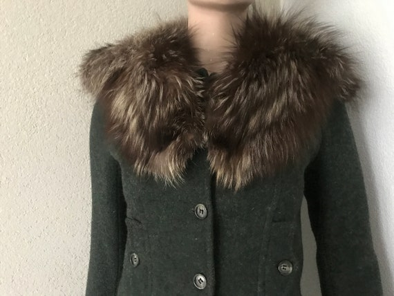 Fur collar | vintage scarf | fox fur | winter collar | jacket collar | brown silver fur | special design |