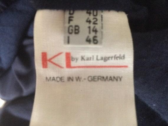 darkblue coat Vintage trench Lagerfeld vintage size 40 coat Karl rain coat Vintage vintage designer coat Sagpq8Sx