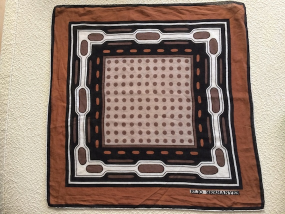 Vintage Elio Berhanyer square scarf