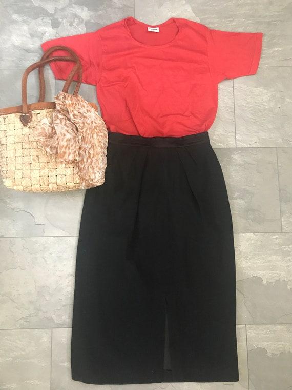 Vintage Louis Féraud skirt | black skirt | Designer skirt | French designer skirt | Vintage black skirt | tube | pencil