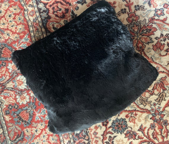 Vintage | muff | hand muff | fur | black | purse | warm | sleeve | socket