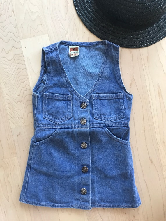 Vintage Hema dress | denim | girls dress | jeans | Dutch brand | Nineties | cotton | Pinafore | EUR 86 | Summer dress | 18 - 24 months