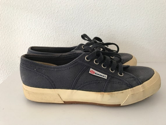 Vintage nineties Superga sneakers or sport shoes, size UK 4,5. EU 38. US 7.5