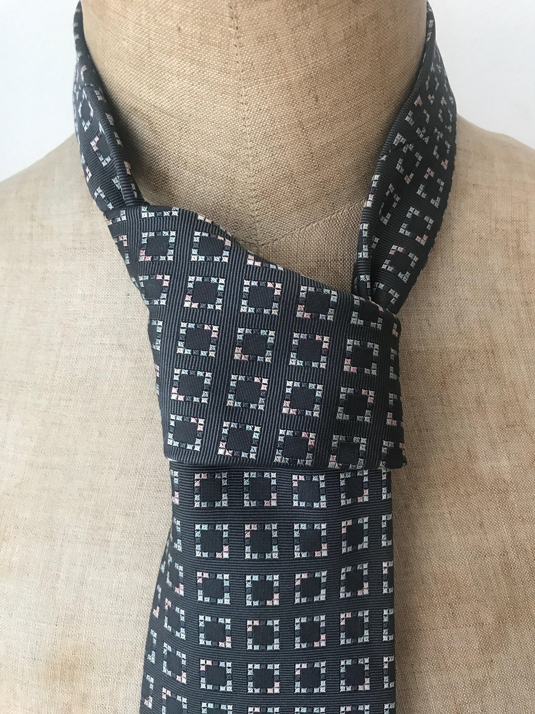 89316f7d10b6 Vintage tie | Hermès Paris | silk | squares | designer | France | grey