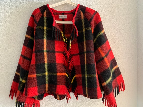 Handmade coat | blanket coat |  jacket | tartan | Dutch blanket | clocking | hand tailored | wool | checkered | one size