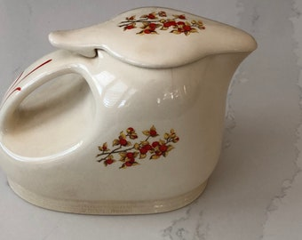 Vintage Made in USA Pottery Pitcher with Lid