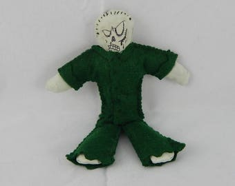 Zombie doll minature undead worry doll monster horror primitive felt handmade art doll soldier