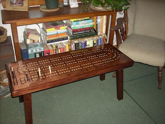 Beau CRIBBAGE TABLE Cribbage Board Coffee Table Mahogany Minwax
