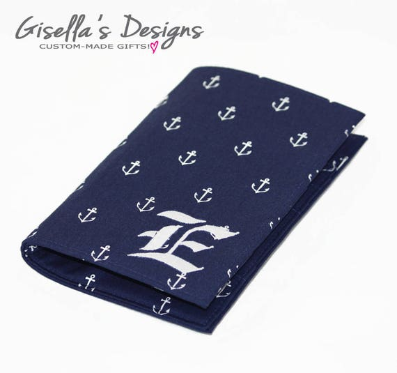 Fabric Personalized All Anchors Passport Holder