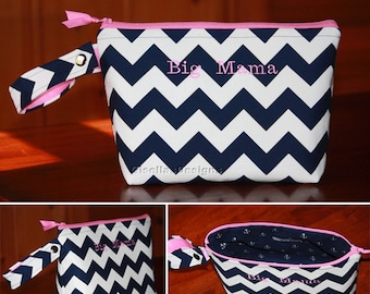 Personalized Diaper Clutch, Custom Compact diaper bag, baby changing clutch bag, Baby shower gift idea, Baby Travel Organizer zipper Bag.