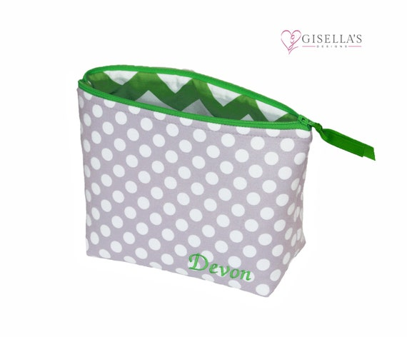 Personalized Cosmetic bag Monogrammed zipper pouch organizer  484edee8ffb9b