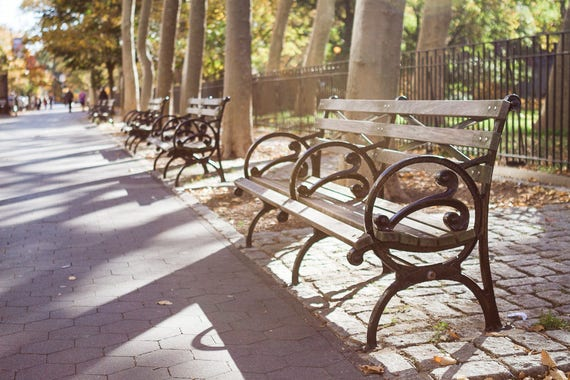 New York City Photography Nyc Park Bench Upper West Side City Etsy