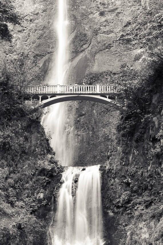 multnomah falls photography black and white columbia river etsy etsy
