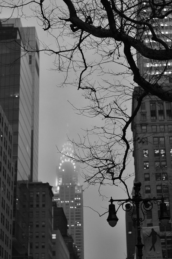 New York City Chrysler Building Black And White Photography
