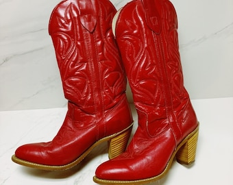 ce82b7574c Red cowboy boots